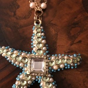 Chico's Jewelry - Chicos starfish star gold tone w pearls necklace